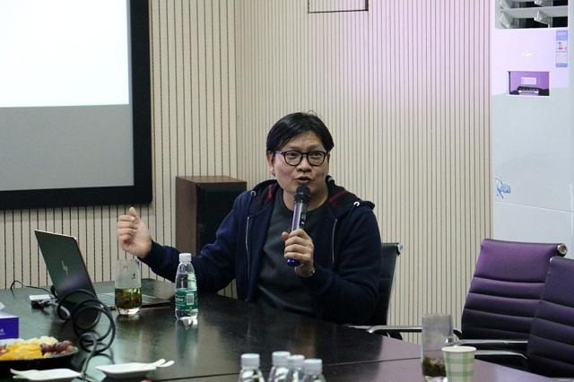 雪莲花CEO王健为中国输血协会信息化建设工作委员会专家讲解雪莲花社会化宣传招募模式